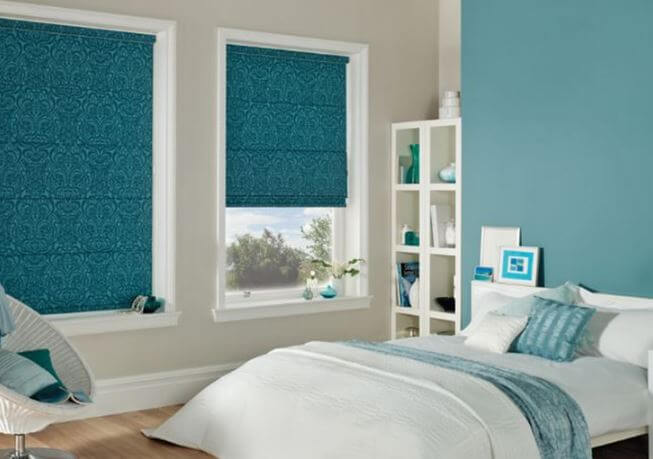 Electric blue blinds