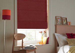 roman red blinds