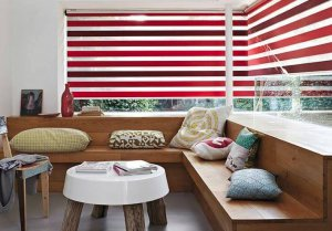 senses mirage red blinds