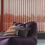 vertical red blinds